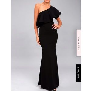 Black Maxi dress from Lulu's